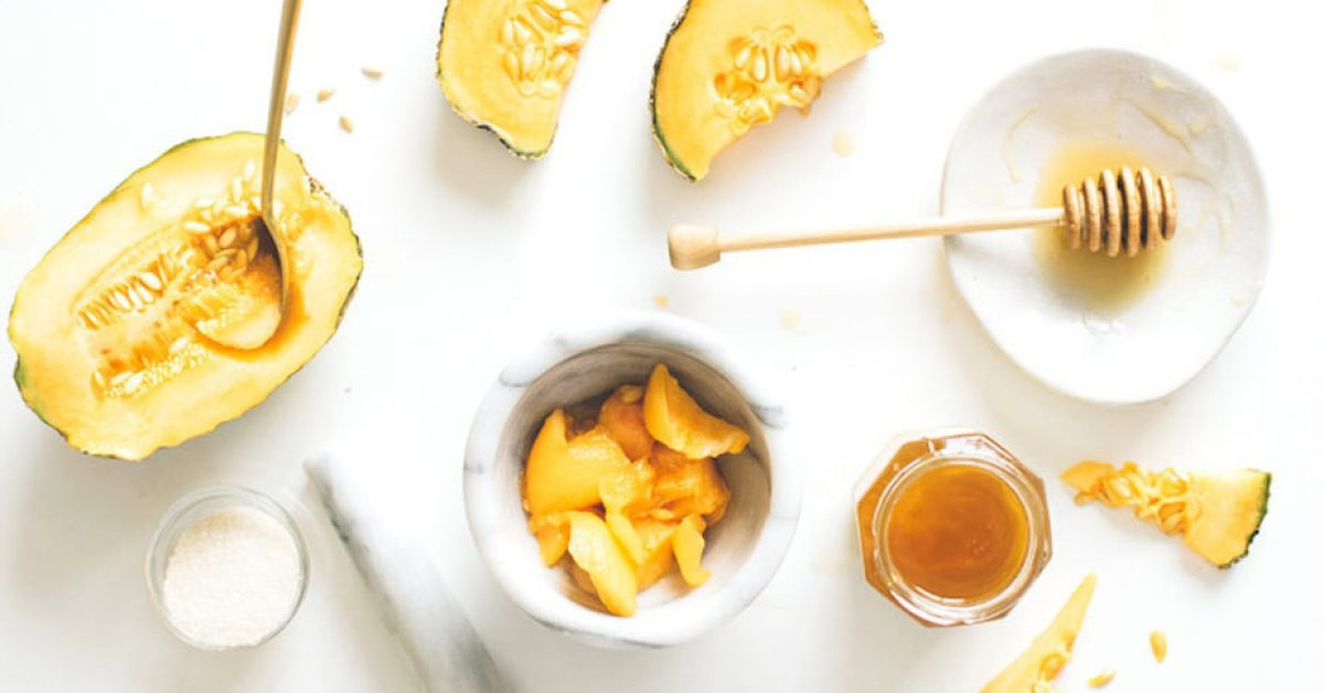 Exfoliant pour la peau à base de melon