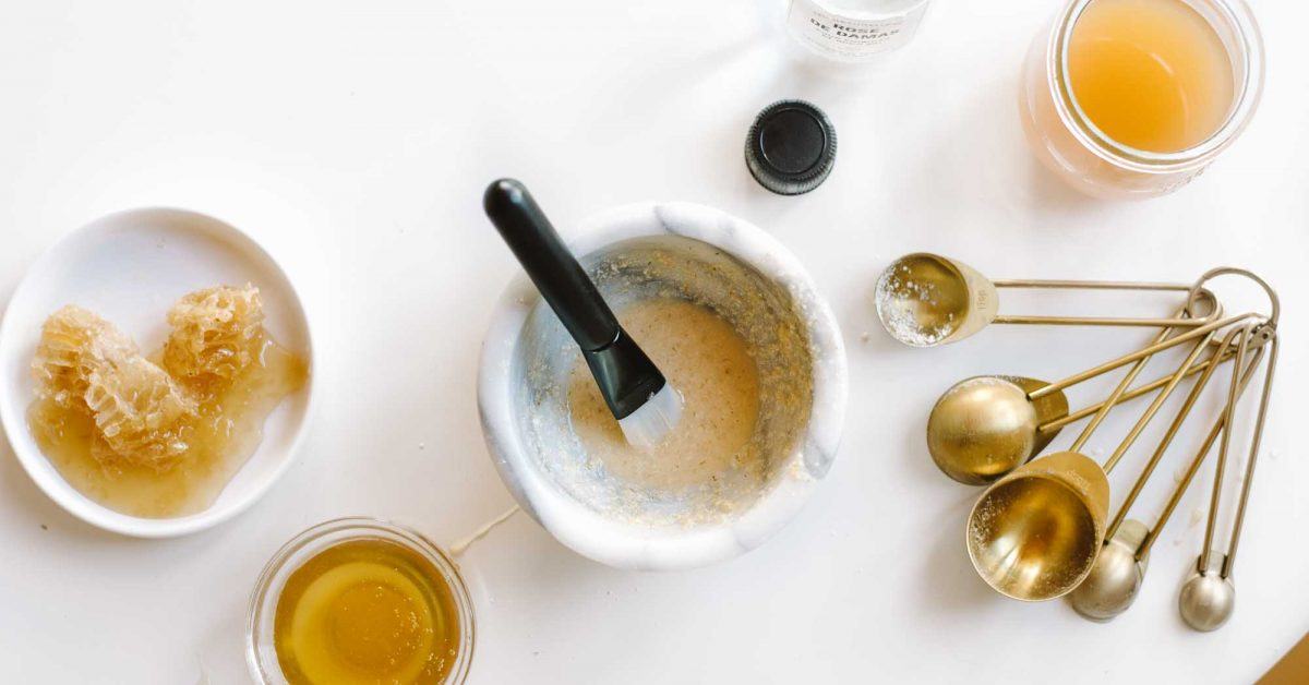 Masque visage au miel et à l'avoine