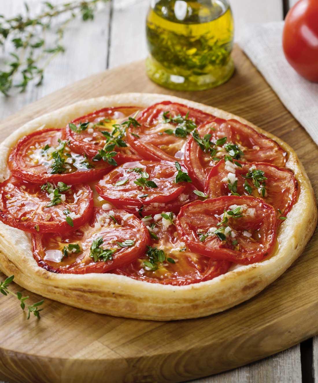 Bonne tarte végétarienne à la tomate