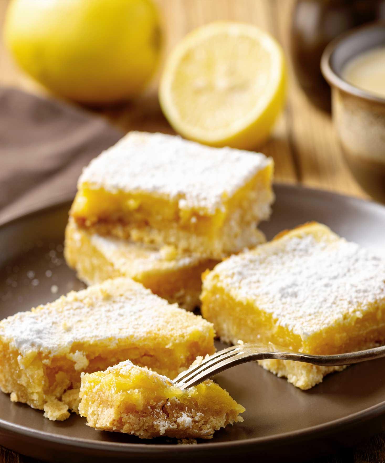Les carrés sablés au citron