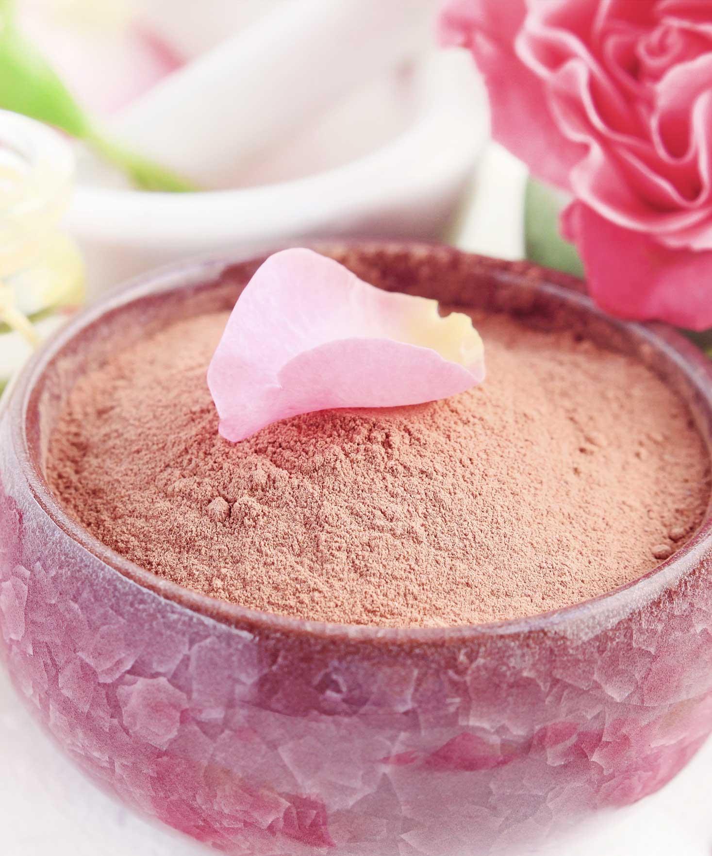 Masque purifiant à l'argile rose pour la peau sensible