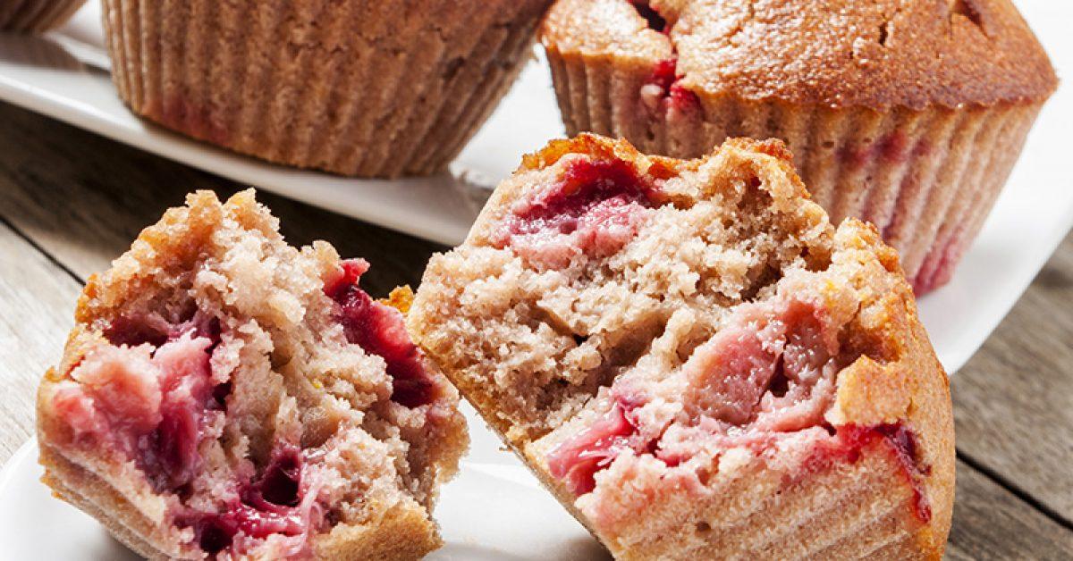 muffins-aux-fraises-et-au-gingembre-frais