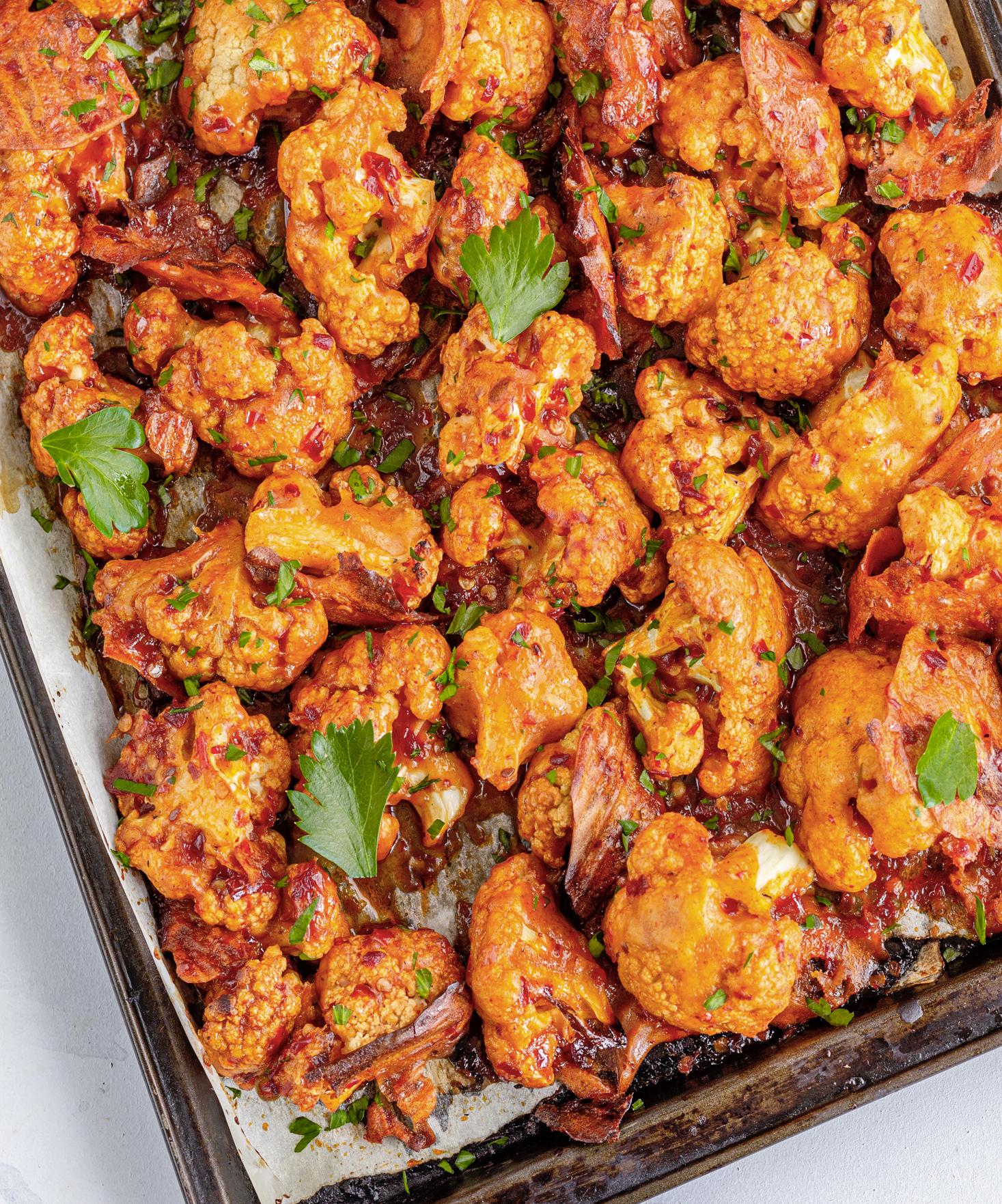 Wings de chou-fleur à la sauce barbecue au four
