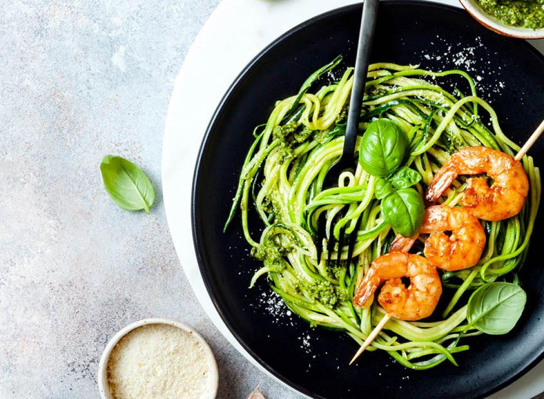spaghetti sauce pesto dari