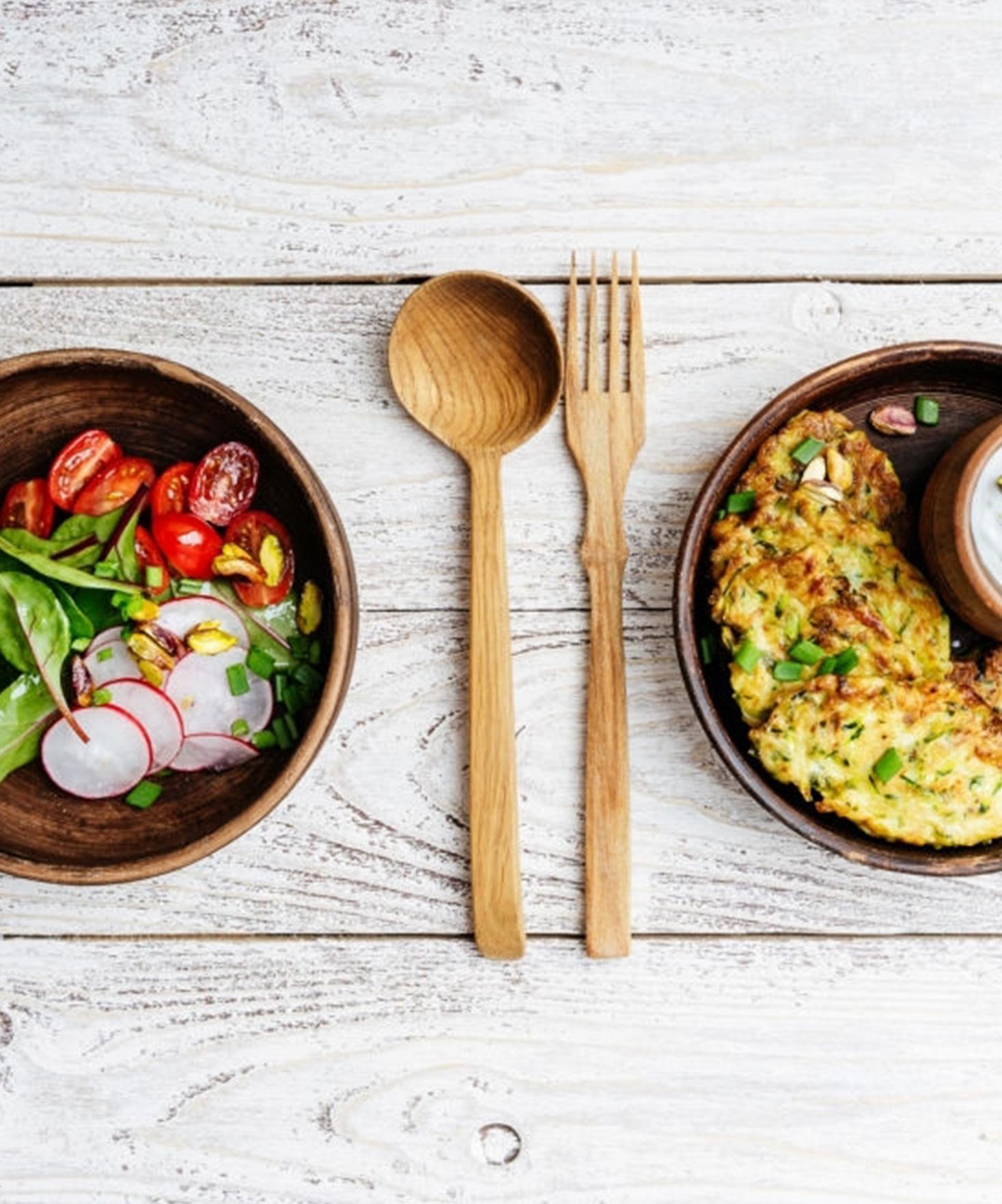 Légères galettes de pommes de terre et champignons